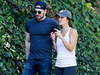 Back On? Chris Evans and Minka Kelly Go for a Friendly Walk Over Labor Day Weekend