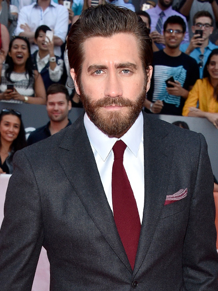 Jake Gyllenhaal Catches Up with Friends in Boston Ahead of New Movie