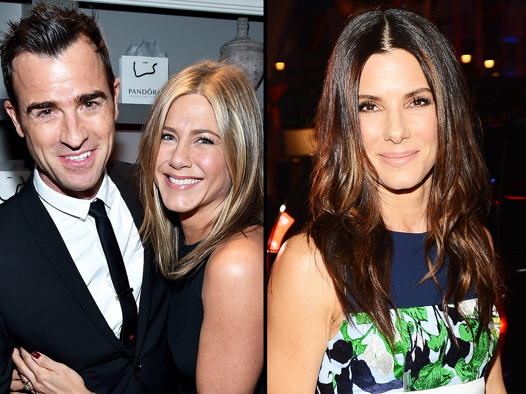 Jennifer Aniston and Justin Theroux Go Out with Sandra Bullock and Bryan Randall