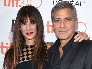 George Clooney Jokes About Working with Longtime Pal Sandra Bullock: She's 'the Boss'