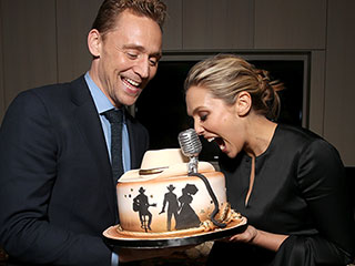No Forks Needed! Tom Hiddleston and Elizabeth Olsen Goof Off at the I Saw the Light Toronto Premiere Afterparty