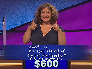 VIDEO: Jeopardy Contestant Tricks Alex Trebek into Saying 'Turd Ferguson'