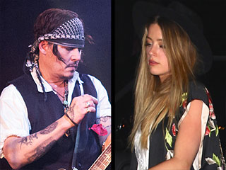 Rock On, Johnny! Depp Performs with Rock Luminaries as Wife Amber Heard Cheers Him On