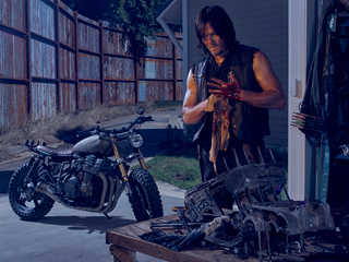 FIRST LOOK: Norman Reedus Is Bloody and Ready to Roll for The Walking Dead Season 6