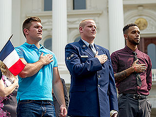 American Heroes Who Stopped Terror Attack on European Train Get Hometown Welcome in Sacramento