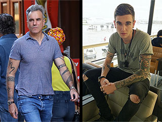 Daniel Day-Lewis and Son Gabriel-Kane Reveal Their Impressive Body Tattoos