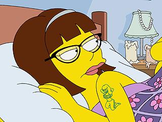 FROM EW: Homer Simpson Has a New Love Interest – Lena Dunham!