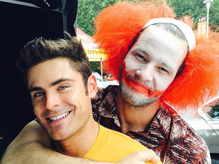 Bozo or Joker? Ike Barinholtz Dresses Like a Creepy Clown on Set of Neighbors 2 with Zac Efron and Chloé Grace Moretz