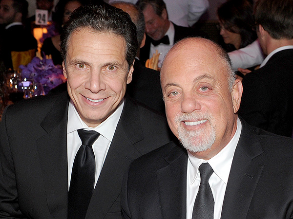 Gov. Andrew Cuomo and Billy Joel