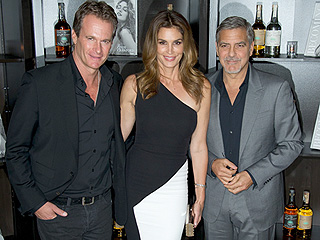 George Clooney Goofs Around with Rande Gerber and Cindy Crawford at Becoming Book Signing and Casamigos Party in London