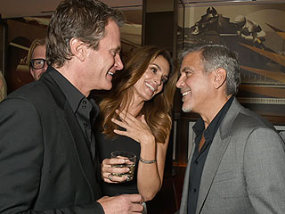 Cocktails and Cheer: Pals George Clooney, Rande Gerber and Cindy Crawford Enjoy Night Out in Miami