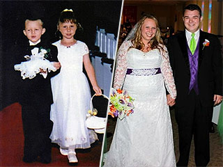 Ring Bearer and Flower Girl Walk Down the Aisle 17 Years Later as Bride and Groom