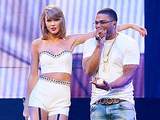 VIDEO: Hot in Herre! Taylor Swift and Haim Play Backup for Nelly During St. Louis Tour Stop