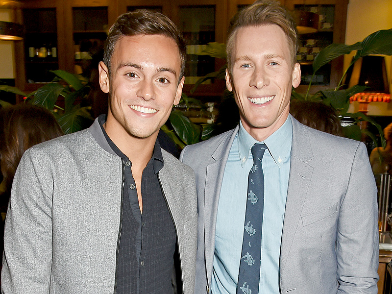 A Look Back at Dustin Lance Black and Tom Daley's Love Story as the Screenwriter Clarifies Tweet About His Fiancé and Sam Smith: They 'Are Pals'| Couples, Engagements, Dustin Lance Black, Sam Smith