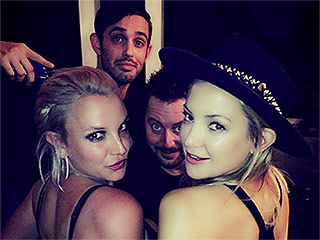 Britney Spears Drops in on Kate Hudson's Game Night: 'Two Blondes ... Too Much Fun'