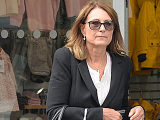 Princess Charlotte's Grandma Carole Middleton Shops the Baby Racks in London