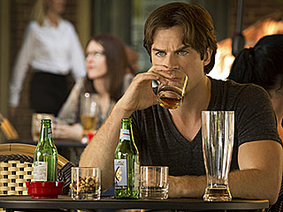 The Vampire Diaries: Ian Somerhalder Says Damon Copes with Losing Elena by 'Drinking His Face Off'