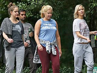 Laugh Factory: Besties Amy Schumer & Jennifer Lawrence Hike with Aziz Ansari, Make a 'Short Film' with Chris Pratt