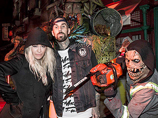 Boo! Rita Ora and Travis Barker Step Out for Spooky Date Night