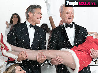 VIDEO: You'll Never Guess Who's in George Clooney's Arms on Bill Murray's Christmas Special
