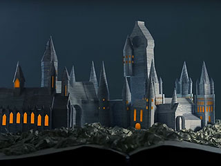 Muggle Ingenuity or Magic? Watch Hogwarts Spring to Life from the Pages of a Harry Potter Book
