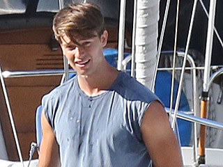Arnold Is That You? Patrick Schwarzenegger Flashes His Muscles On Set – Just Like His Dad Once Did