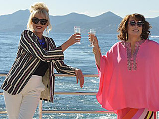 FROM EW: See the First Image of Edina and Patsy Together in Absolutely Fabulous: The Movie