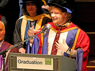 Ed Sheeran Accepts His Honorary Doctorate Degree Like a Total Badass