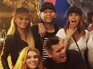 Pregnant Chrissy Teigen Joins Jessica Alba for a Pre-Halloween Fright Night