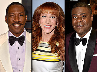 Kathy Griffin Dishes on Having an All-Comic Slumber Party with Eddie Murphy to Watch Tracy Morgan on SNL