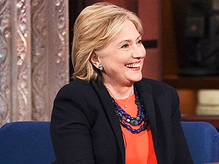 Hillary Clinton Gets Flirty with Stephen Colbert: 'You Look Good in Parachute Pants'