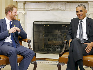 Prince Meets POTUS! Harry and President Obama Chat Veterans' Issues in Oval Office