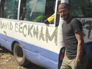 David Beckham Kicks Off His 'Seven Games In Seven Continents' Adventure for UNICEF