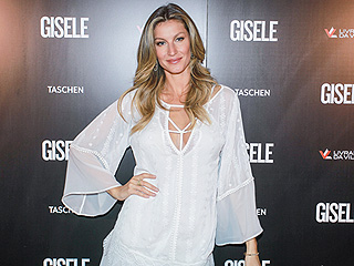 Gisele Bündchen Wows in Sexy White Dress After Her $700 Book Sells Out