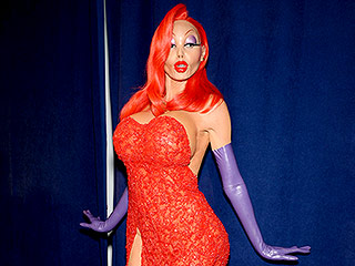 Heidi Klum Completely Transformed Into a Cartoon-worthy Jessica Rabbit for Halloween