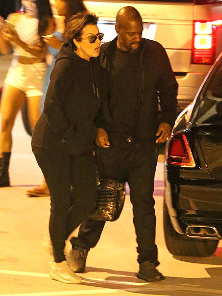 Kim Kardashian Wears $300 Rubber Sandals on Double Date with Kanye West, Kris Jenner and Corey Gamble| Couples, Kanye West, Kim Kardashian, Kris Jenner