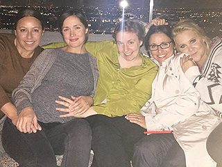 Funny Girls: Lena Dunham Hangs with Julia Louis-Dreyfus, Amy Schumer and Rose Byrne