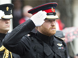 See Somber Prince Harry Salute Fallen Service Members at Westminster Abbey