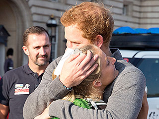 An Emotional Prince Harry: 'I Can't, I Can't Accept This' After Getting Dog Tag from Wounded U.S. Marine