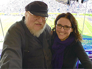 Julia Louis-Dreyfus Is the 'Veep of Thrones': Actress Meets Up with George R.R. Martin