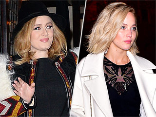 New Squad? Adele Spotted at Same Restaurant as Jennifer Lawrence and the Hunger Games Cast