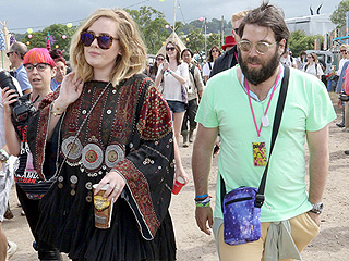 Adele on Boyfriend Simon Konecki: It's 'Only Because of Him and Our Kid That I'm All Right'
