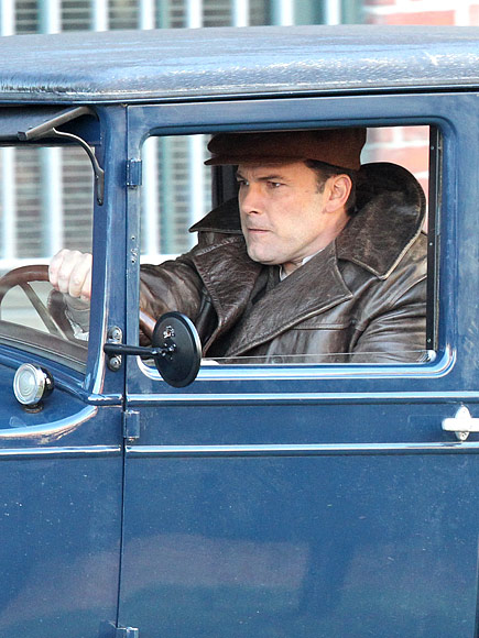 Ben Affleck Shows off Vintage Ride on Set of Live By Night After Weekend with Kids in L.A.