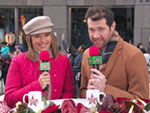 VIDEO: Why Is Rooney Mara Flying Down Broadway? Ask Billy Eichner and Katie Couric!
