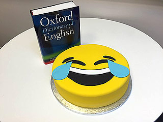 Oxford dictionary and the tears of joy emoji.