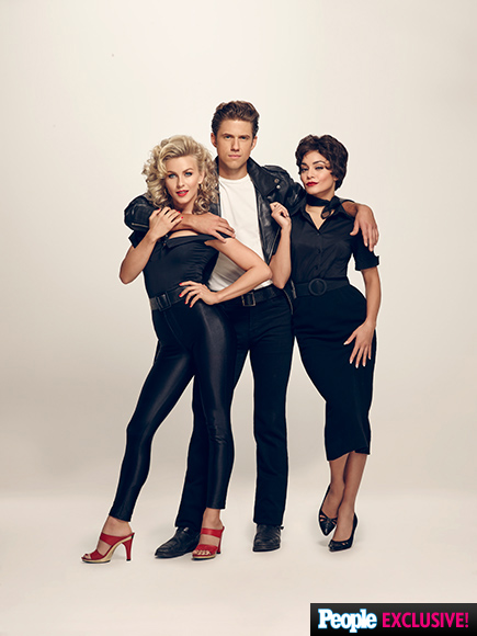 FIRST LOOK: Julianne Hough as Sandy in Grease: Live – Plus Vanessa Hudgens and Aaron Tveit| People Picks, TV News, Aaron Tveit, Julianne Hough, Vanessa Hudgens
