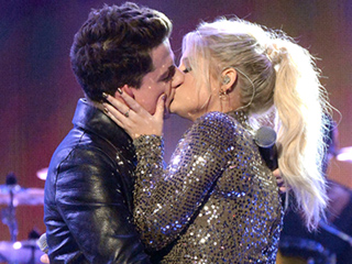 VIDEO: Meghan Trainor and Charlie Puth Make Out at AMAs But 'Are Just Friends'