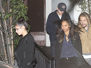 Parents' Night Out! Mila Kunis and Ashton Kutcher Go on Double Date with Friends Zoe Saldana and Husband Marco Perego