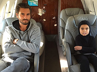 Scott Disick Shares a Jet-Setting 'Boys Day' Photo with Son Mason