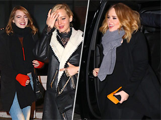 What Adele, Jennifer Lawrence and Emma Stone Totally Talked About at Their Dinner (We Think …)
